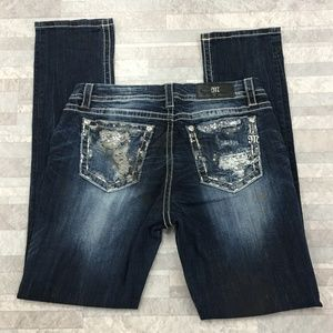 Miss Me Mid Rise Easy Straight Jeans Size:30